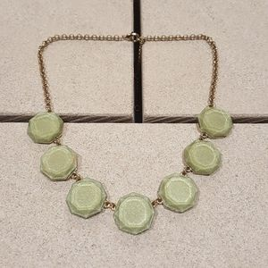 Light Olive Green Bauble Choker Statement Necklace